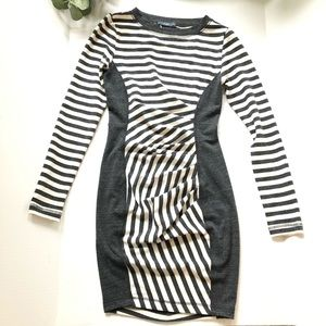 Tart XS grey cream long sleeve body on dress